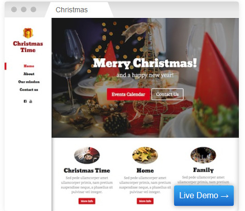 Christmas theme by Host Direct